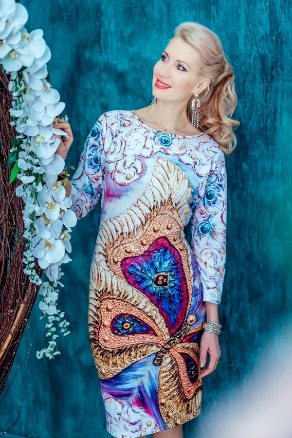 """Трикотажное Платье """"Бабочка"""""""