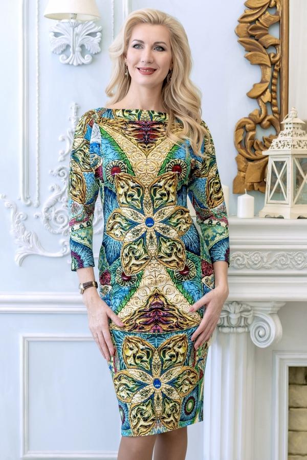 """Трикотажное платье """"Шик города"""""""