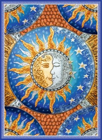 """Плед """"Солнце и Луна"""""""