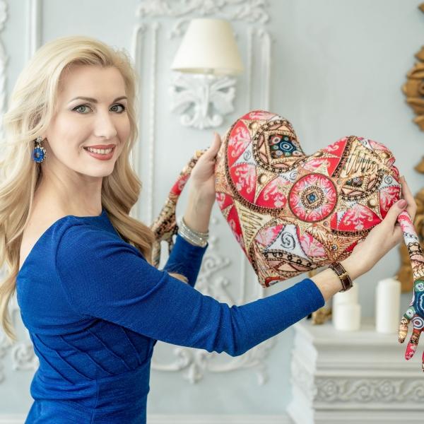"""""""Сердце"""" (красное) с Мандалой """"Раскрытия Любви"""""""